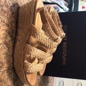 Stuart Weitzman Jute Platform Sandal